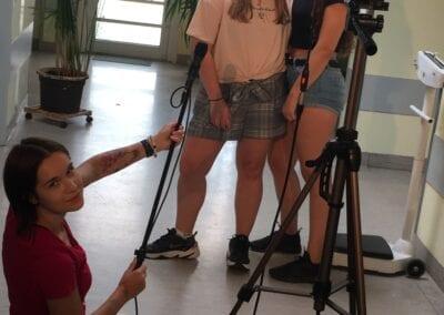 Auszubildende beim Dreh des Imagefilms